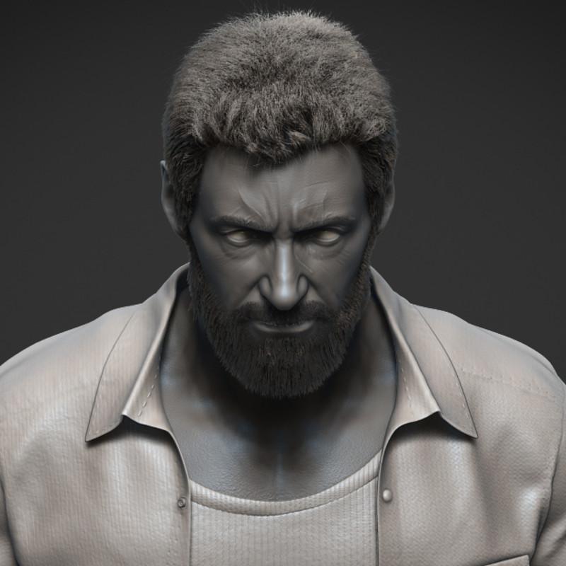Hugh Jackman as Logan likeness study (WIP)