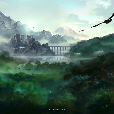 Nele diel ruins in the rainforest