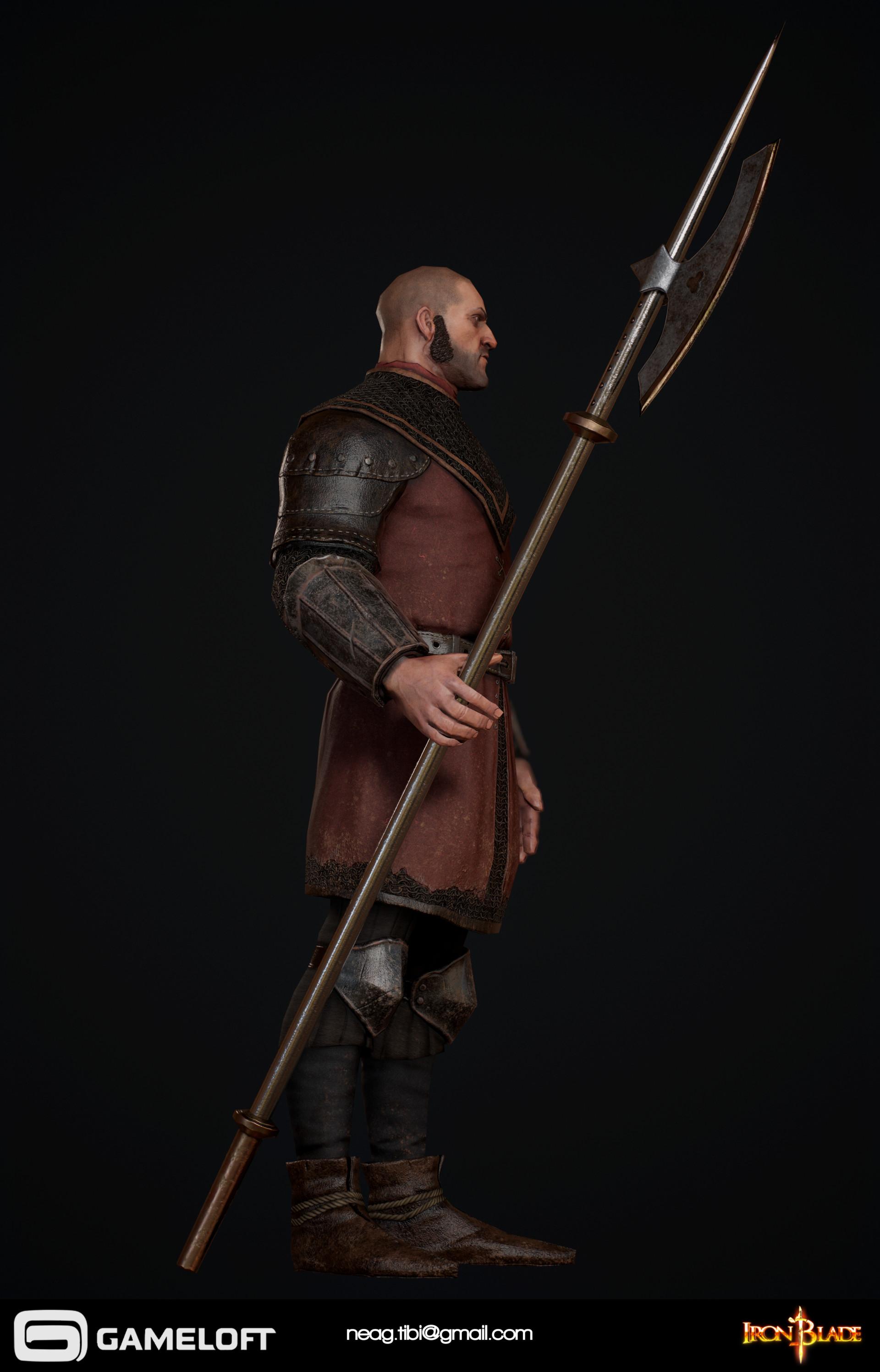 Tibi neag tibi neag iron blade garrison soldier a low poly 04