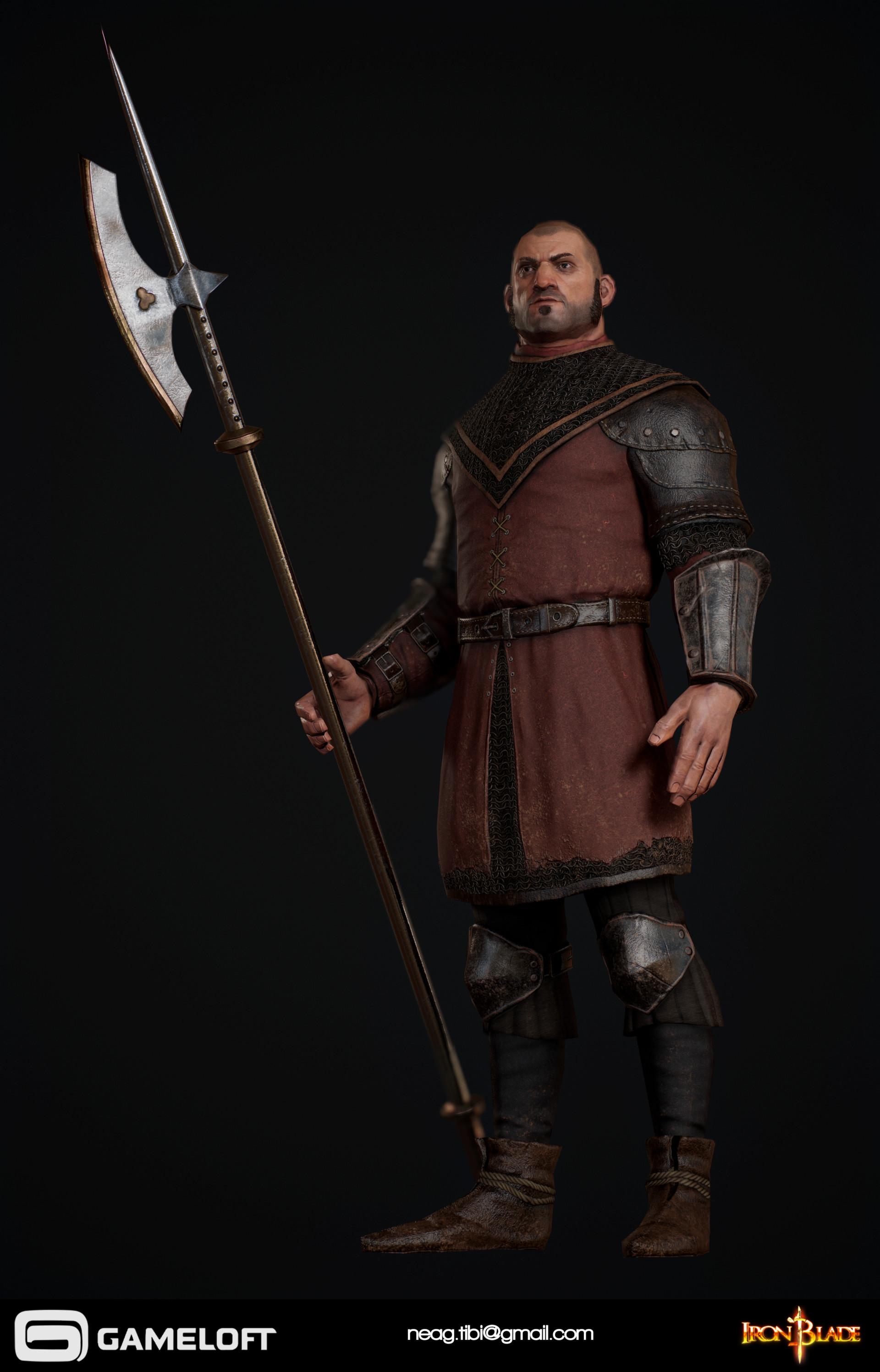 Tibi neag tibi neag iron blade garrison soldier a low poly 03