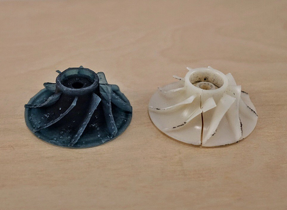 Replacement Impeller for Dyson Vacuum - Downloaded from Thingiverse and printed on Form 2