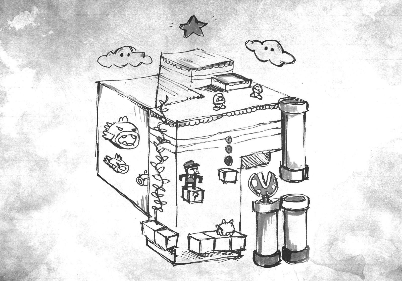 Super Mario Fan Art Drawing