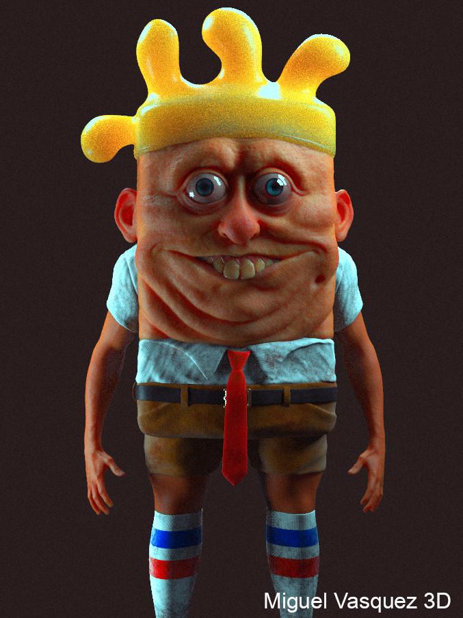 ArtStation - Humanoid Sponge, Miguel Vasquez