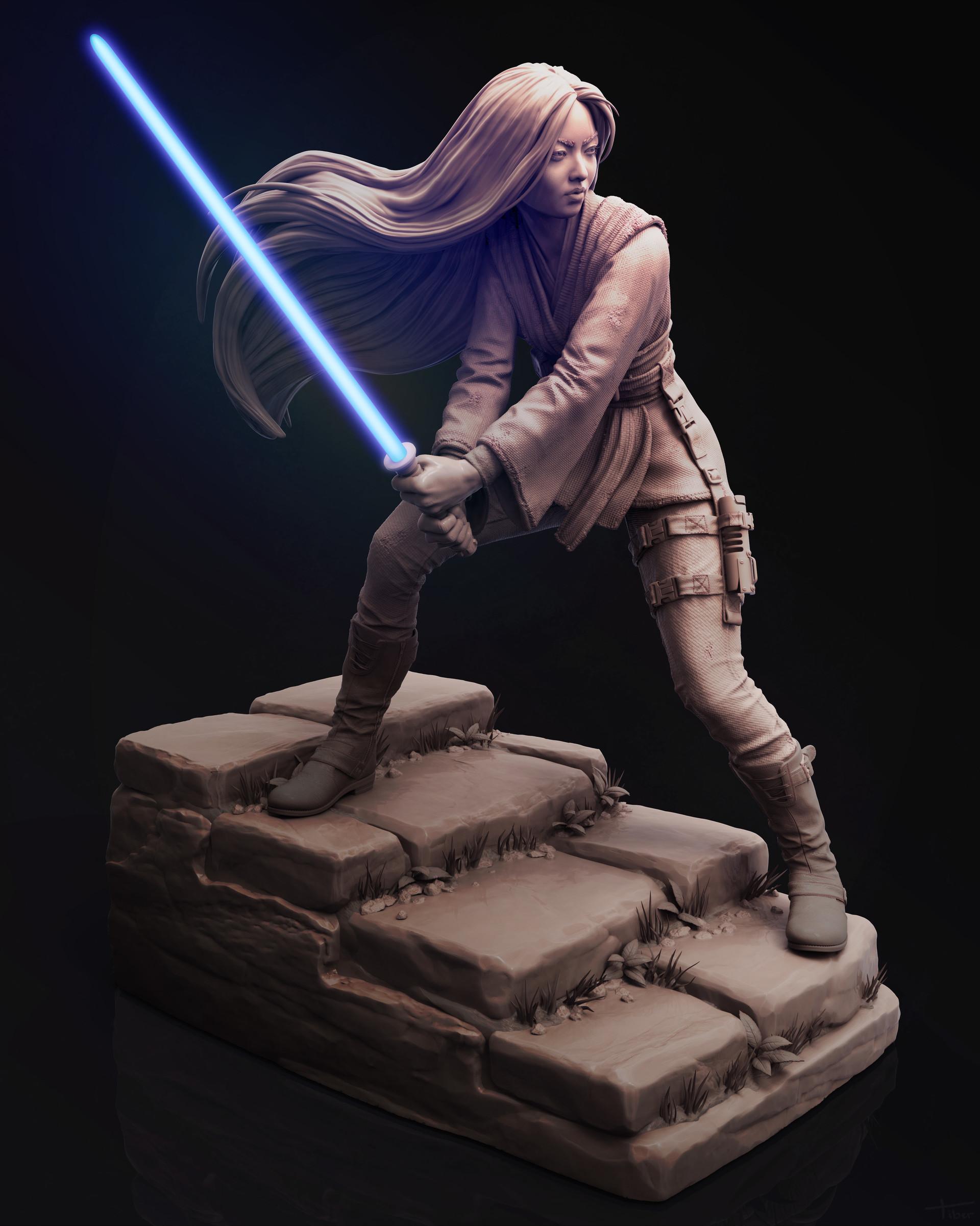 Female Jedi technique 'breakdown by Guillaume Tiberghien_MARVELOUS DESIGN Jedi Jedi