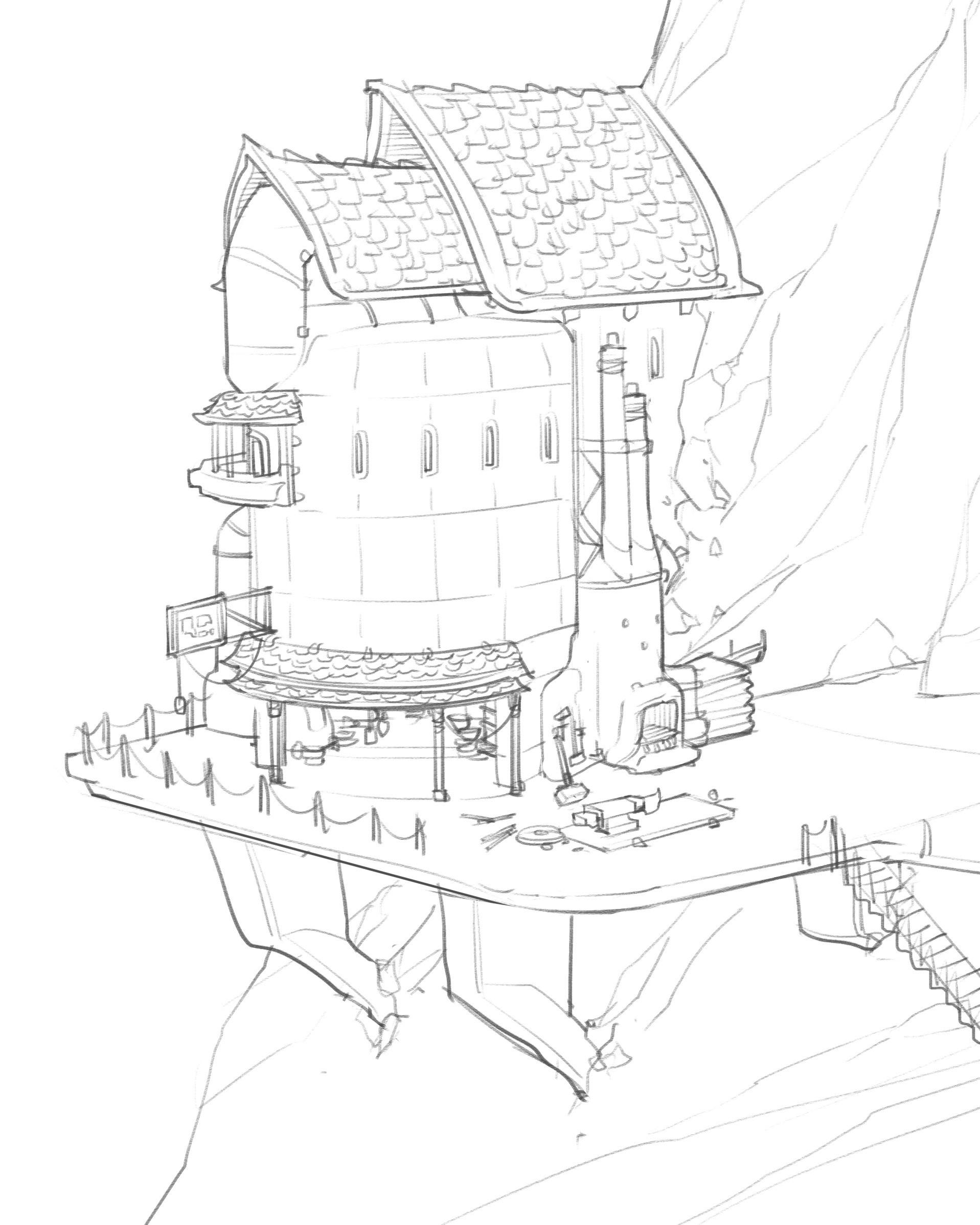 ArtStation - World Building Days 4-5 : Temples and Slugs