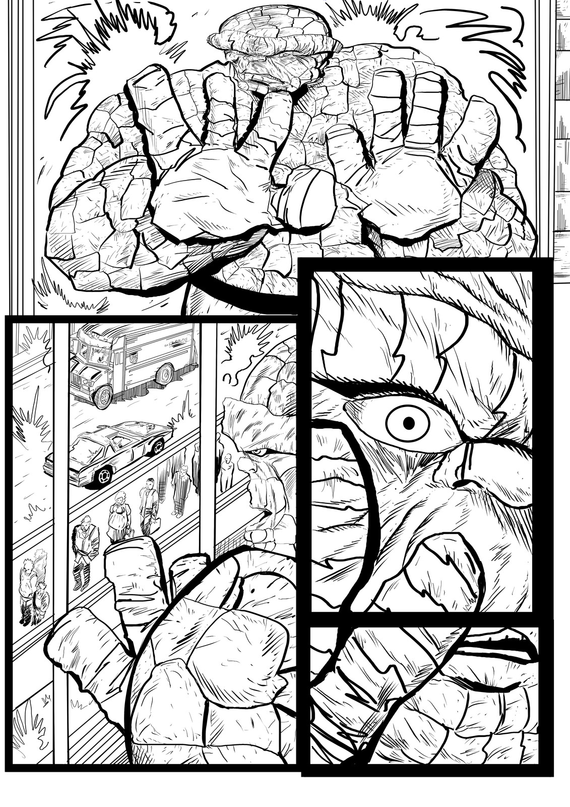 Fantastic Four Sequential Sample artwork page 1 by Brian Robinson