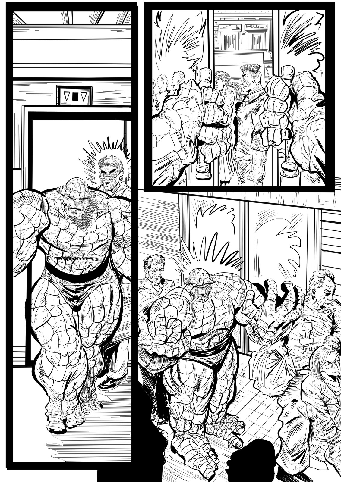 Fantastic Four Sequential Sample artwork page 4 by Brian Robinson
