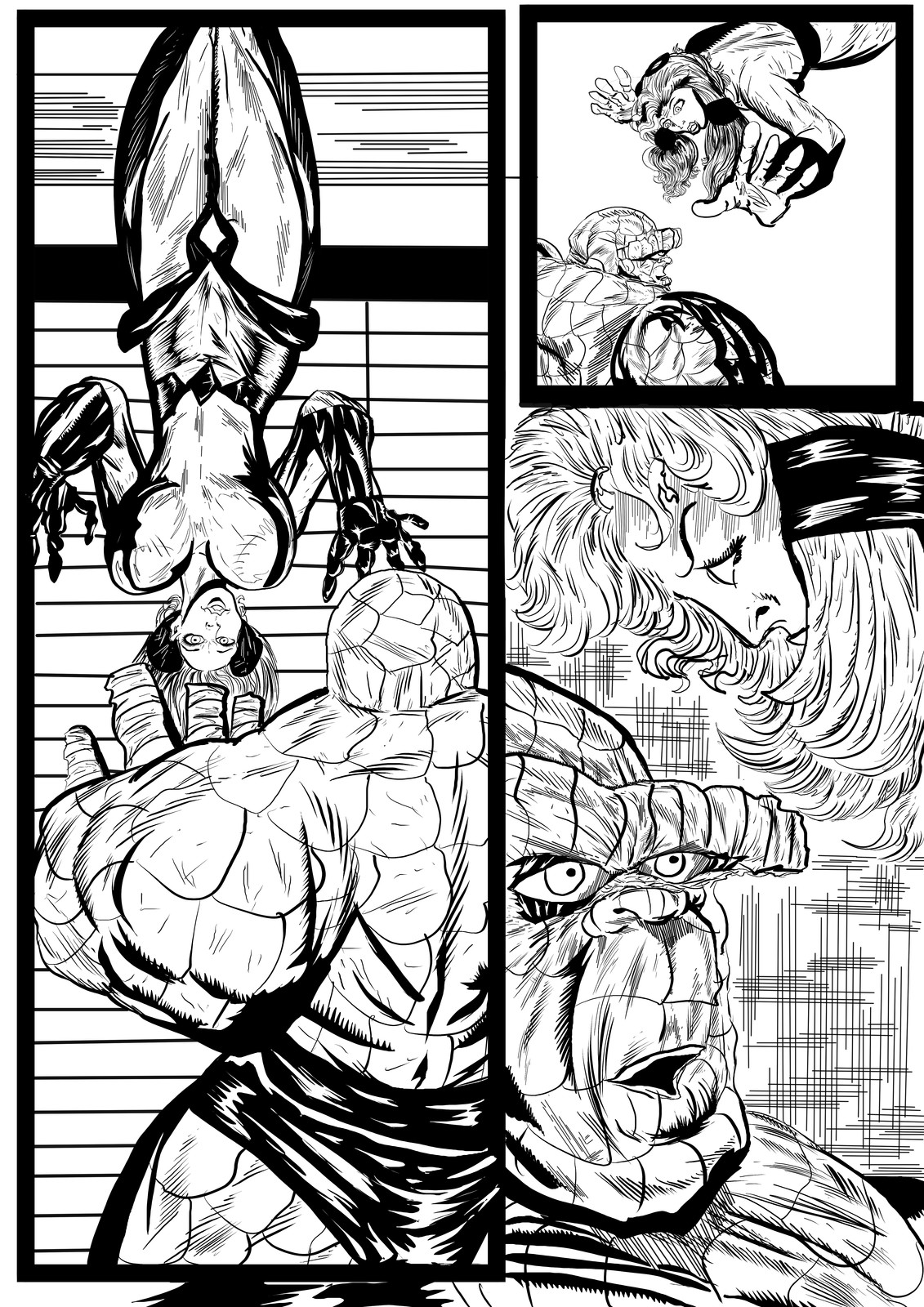 Fantastic Four Sequential Sample artwork page 6 by Brian Robinson