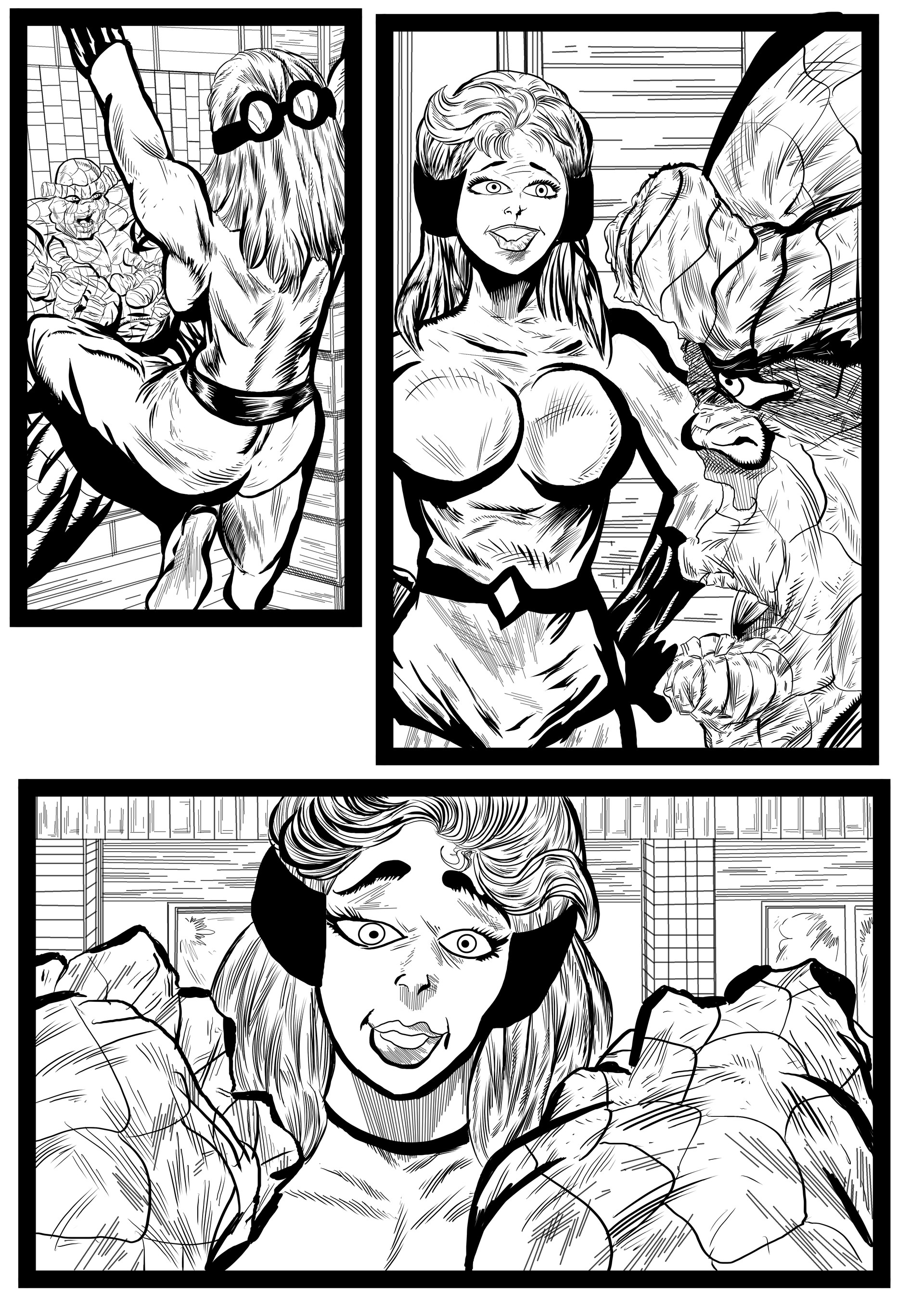 Fantastic Four Sequential Sample artwork page 7 by Brian Robinson