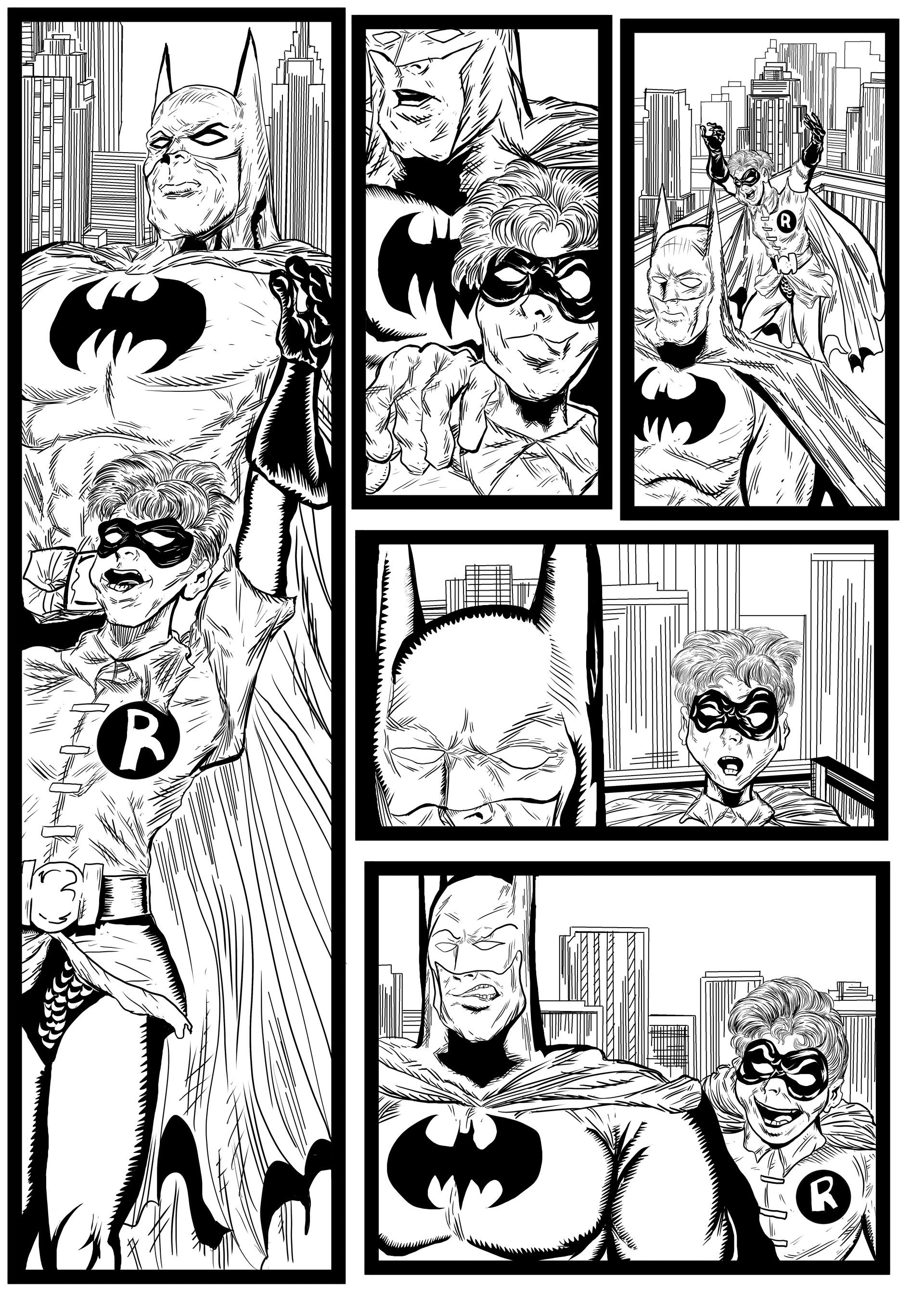 Batman and Robin sequential artwork page 2-2017 by Brian Robinson