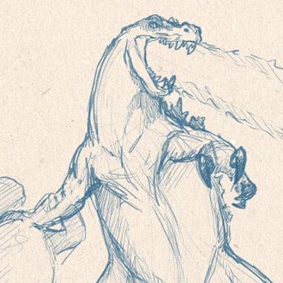 Fred wierum dinosaurian godzilla