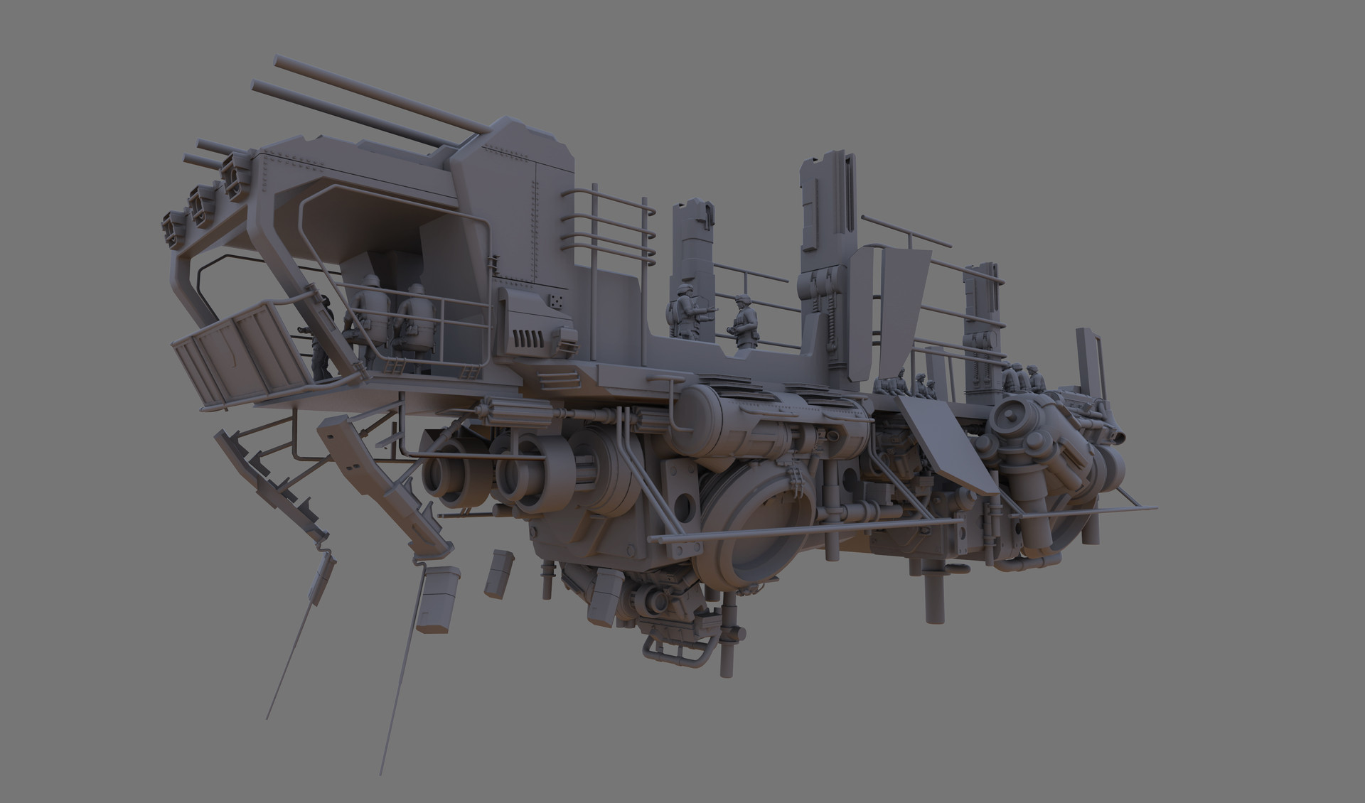 Ship 3D base modelled in Maya