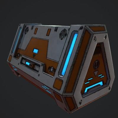 Sci-Fi Storage Crate