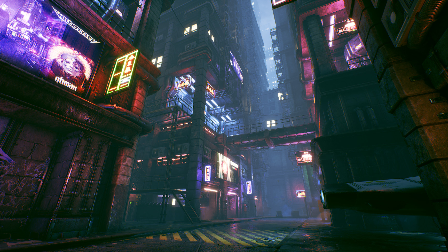 ArtStation - Cyberpunk City Alley - Unreal Engine 4, Michal Baca
