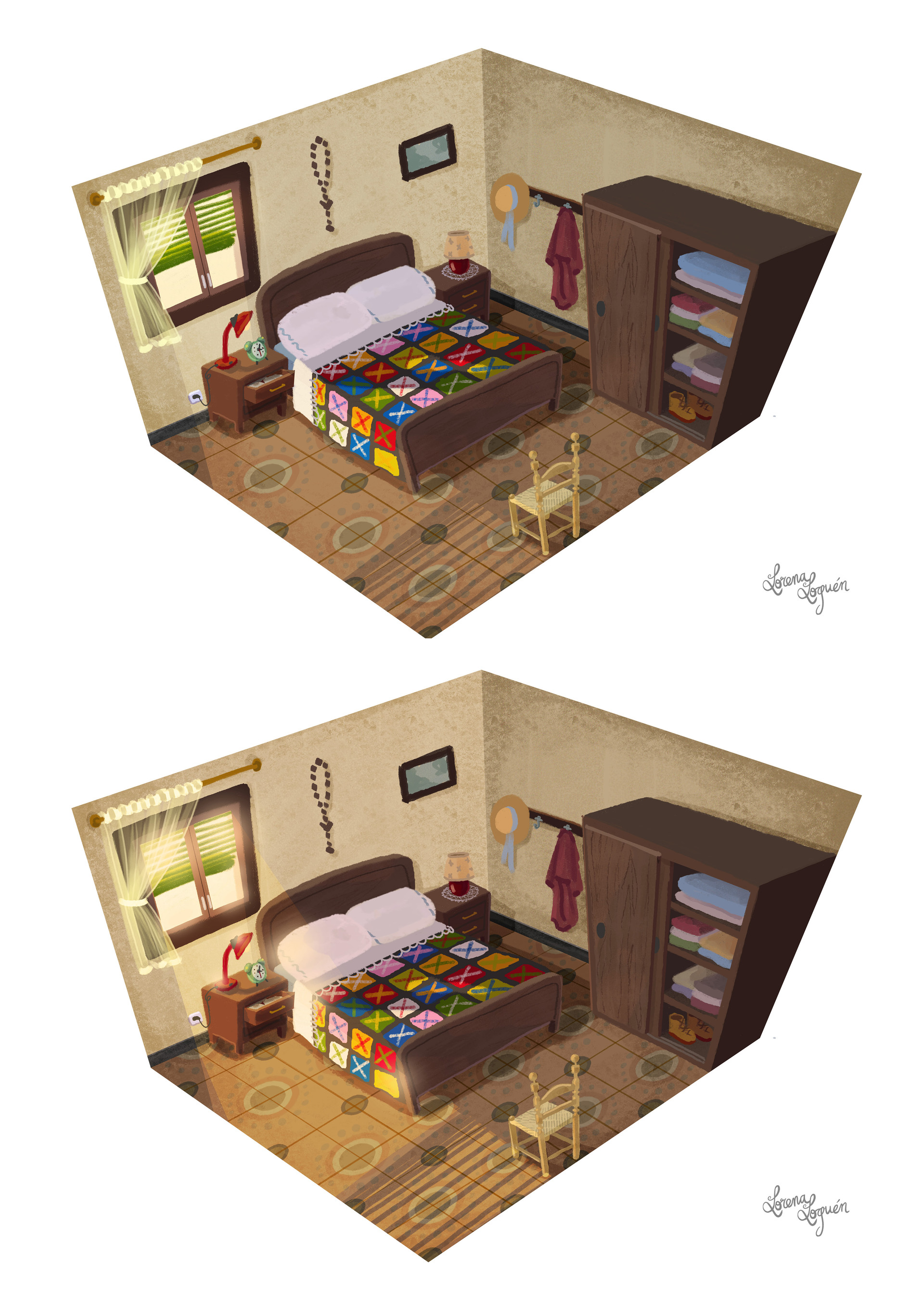 Lorena loguen bedroom concept art by lorena loguen steps 03