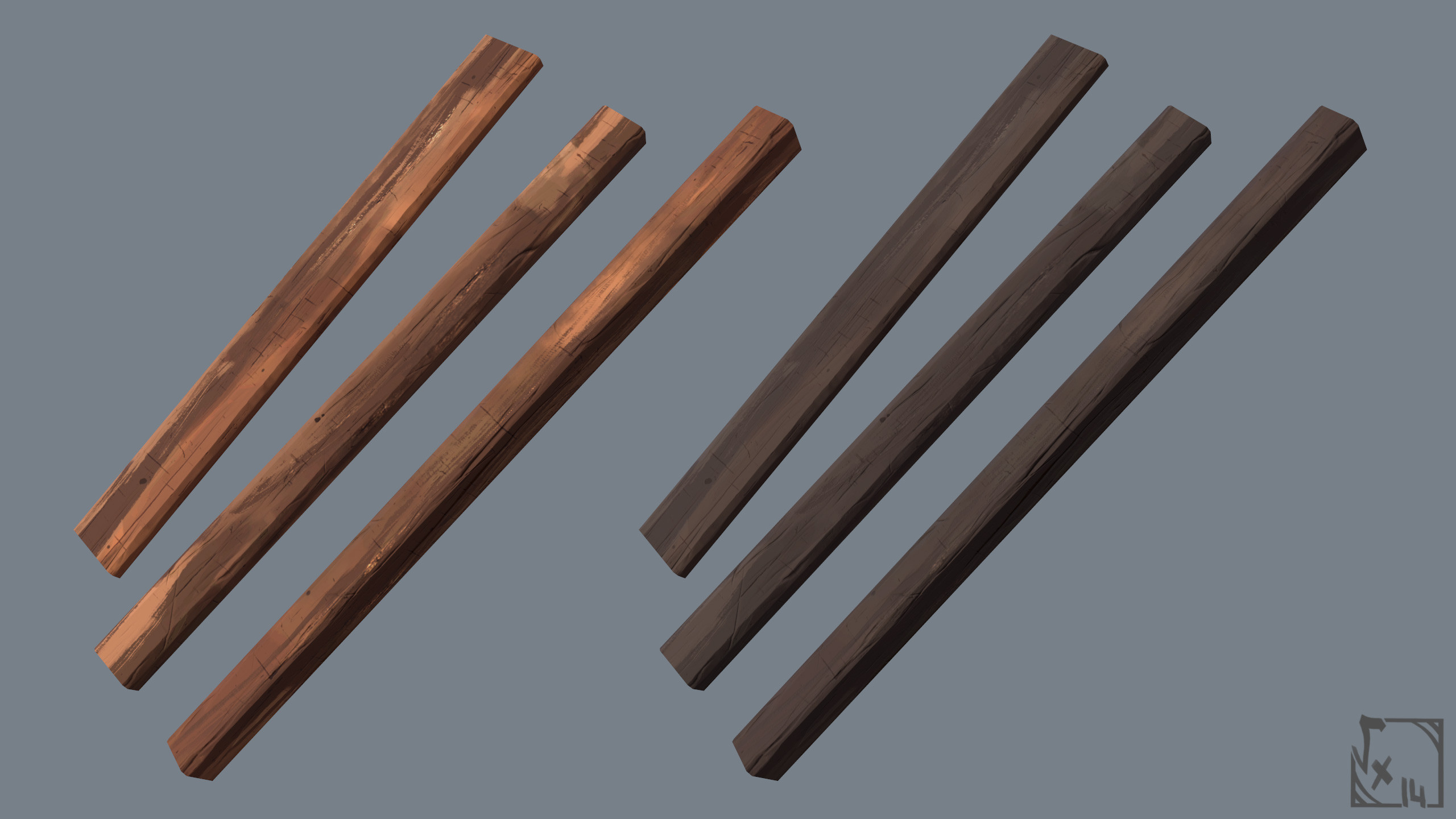 """Tileable wooden timber, used a lot like the tileable materials but only on """"wood architecture"""""""