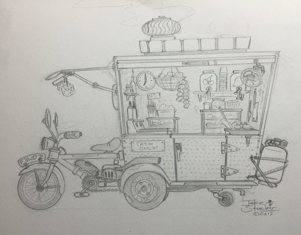 Jake stueber food truckcycle pencil