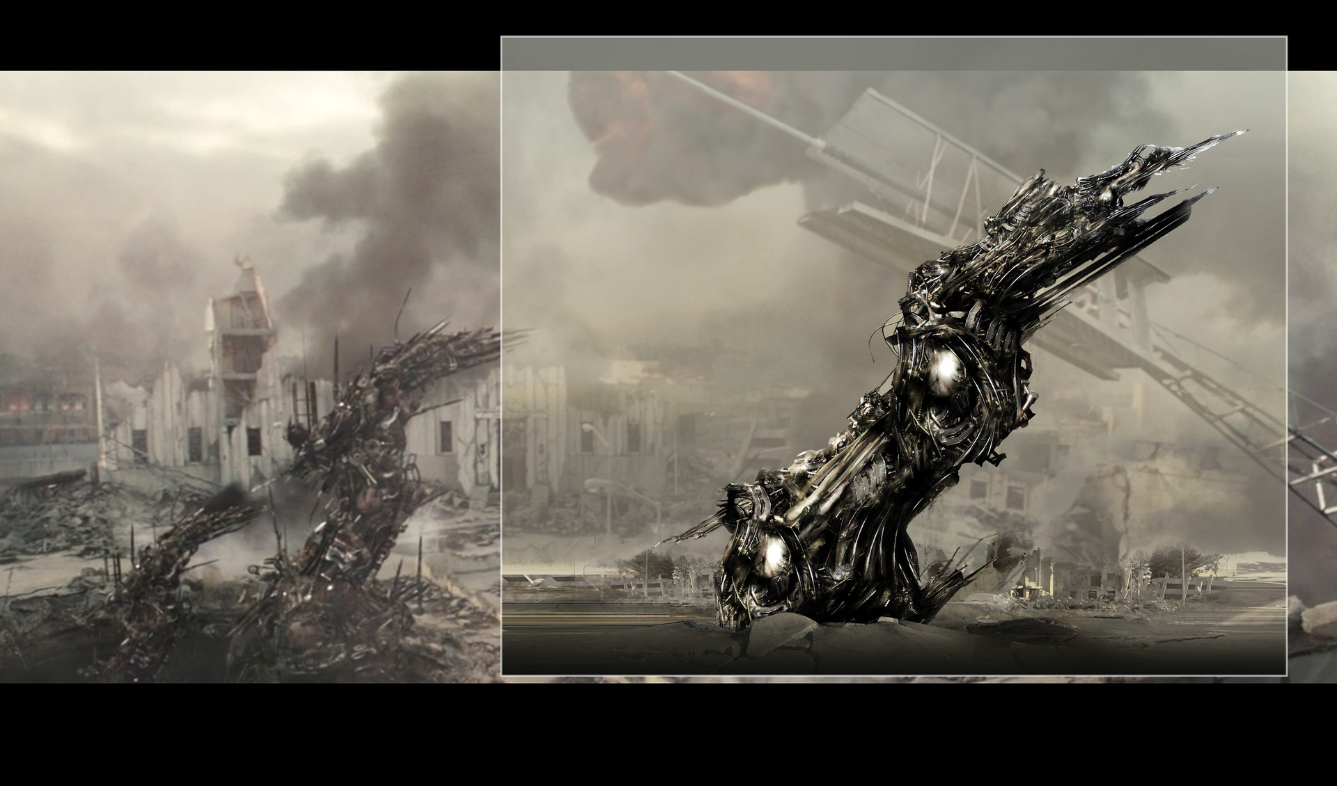 DESIGN - 2- SCREEN Battle LA : Movie Alien communication tower