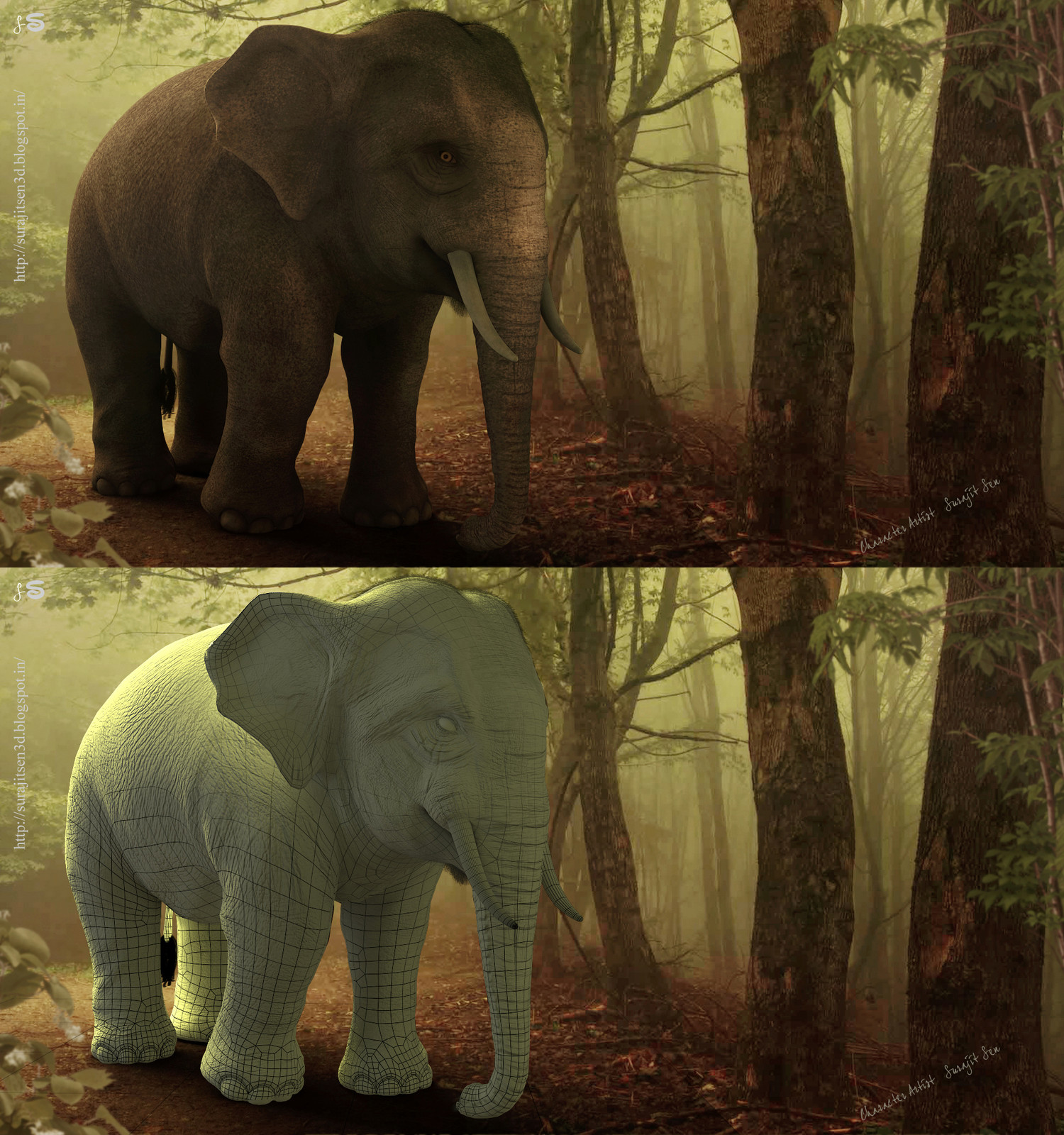 """Hi, this time I am going to introduce a realistic 3D Character """"Asian Elephant""""."""