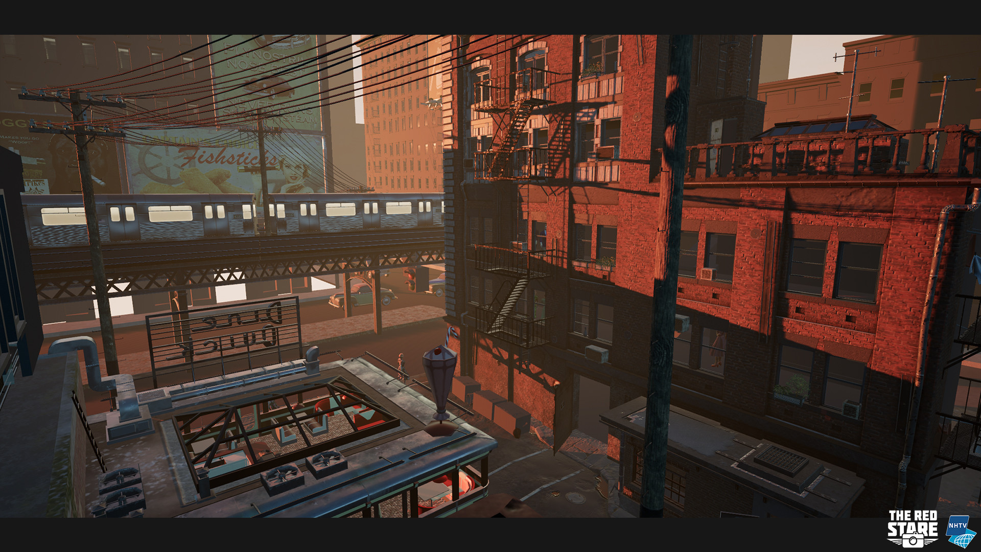 Newest ingame render. We are using a dynamic day and night cycle now. It greatly improved the lighting of the scene.