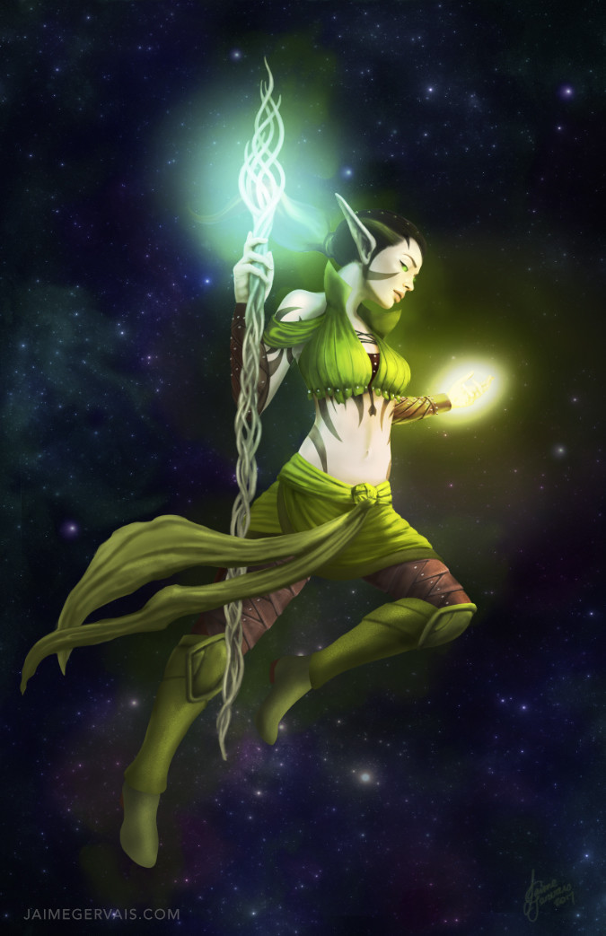 Nissa Revans  - Planeswalker of Magic the Gathering