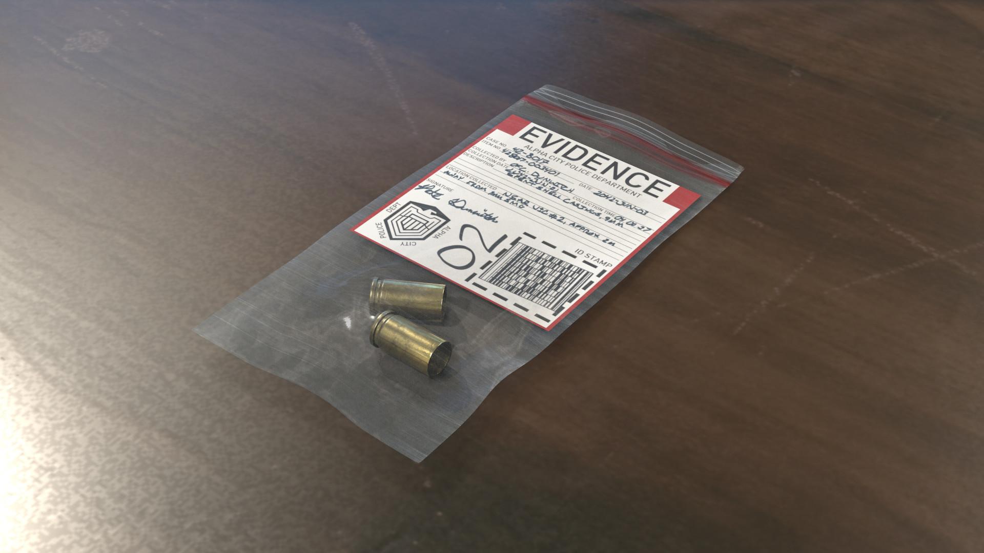 Ben bickle evidence bag