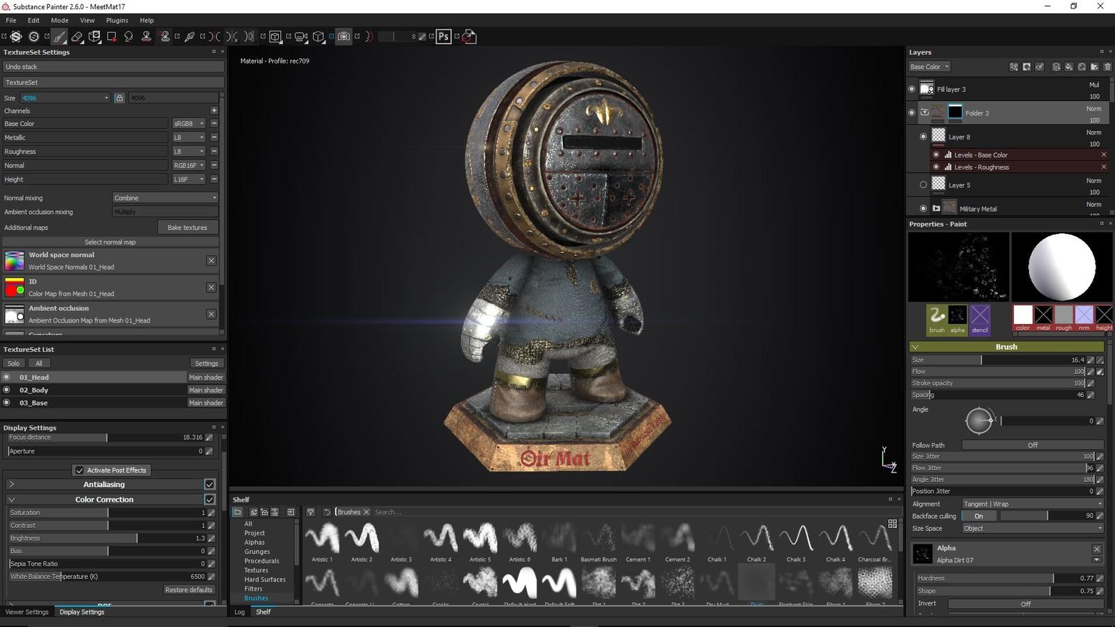 Substance Painter viewport screenshot.