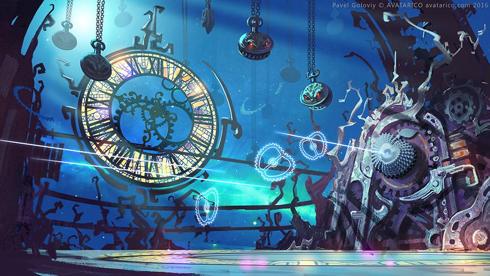 Inside Magic Clock that controls timeflow in Wonderland.