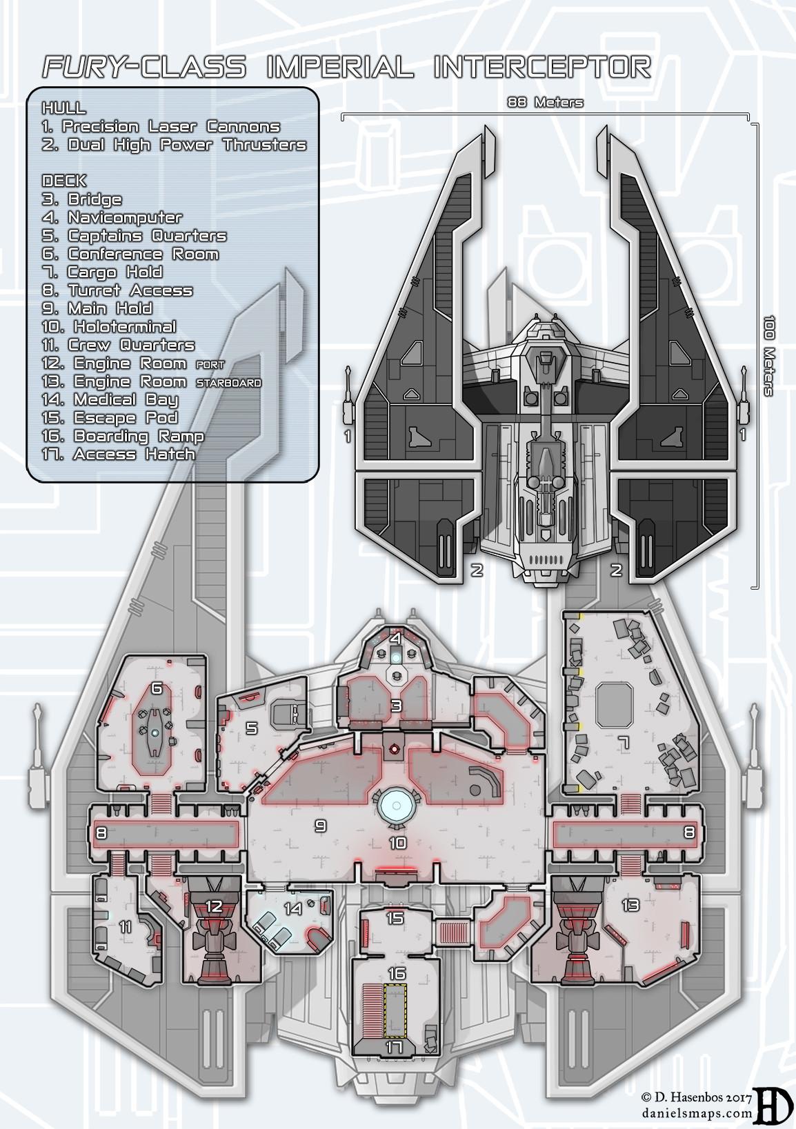 ArtStation - Fury-Class Imperial Interceptor, Daniel Hasenbos