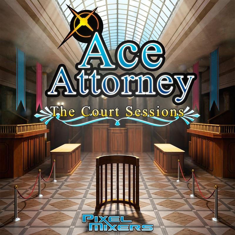 Pixel Mixers - Ace Attorney Album Cover Art