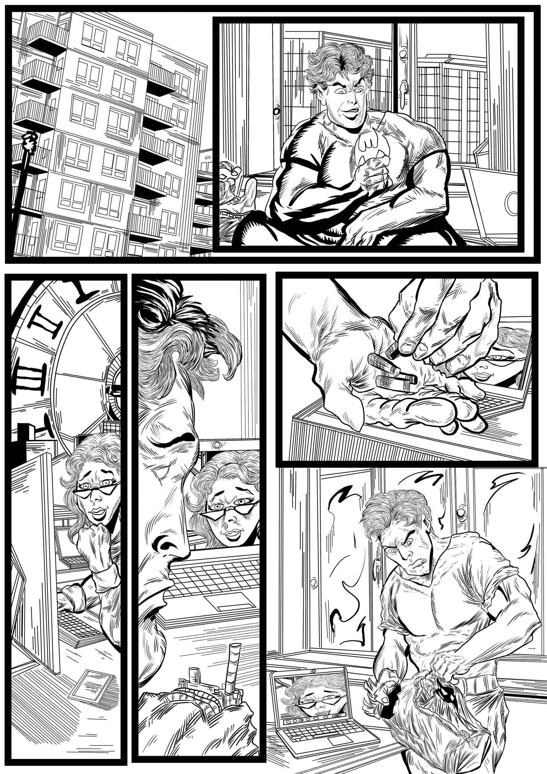 Batman and Robin sequential artwork page 4-2017 by Brian Robinson