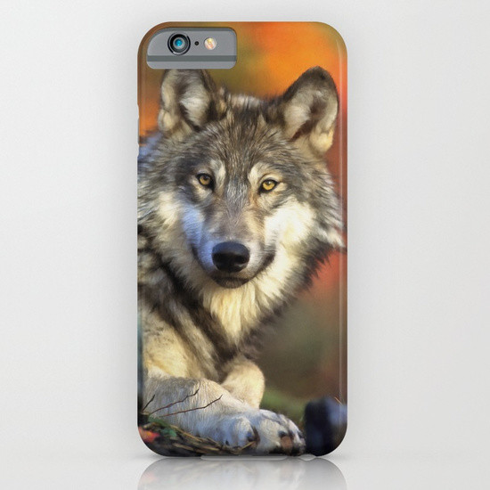 Eddie christian autumn wolf phone cases