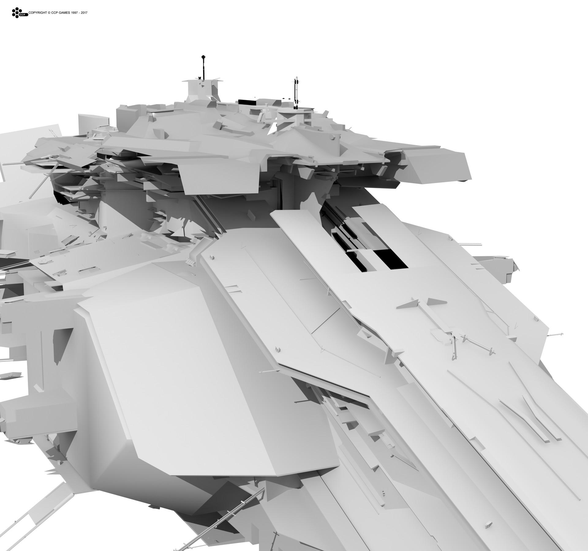 ArtStation - Unused Caldari Capital ship, Kasim Lewis