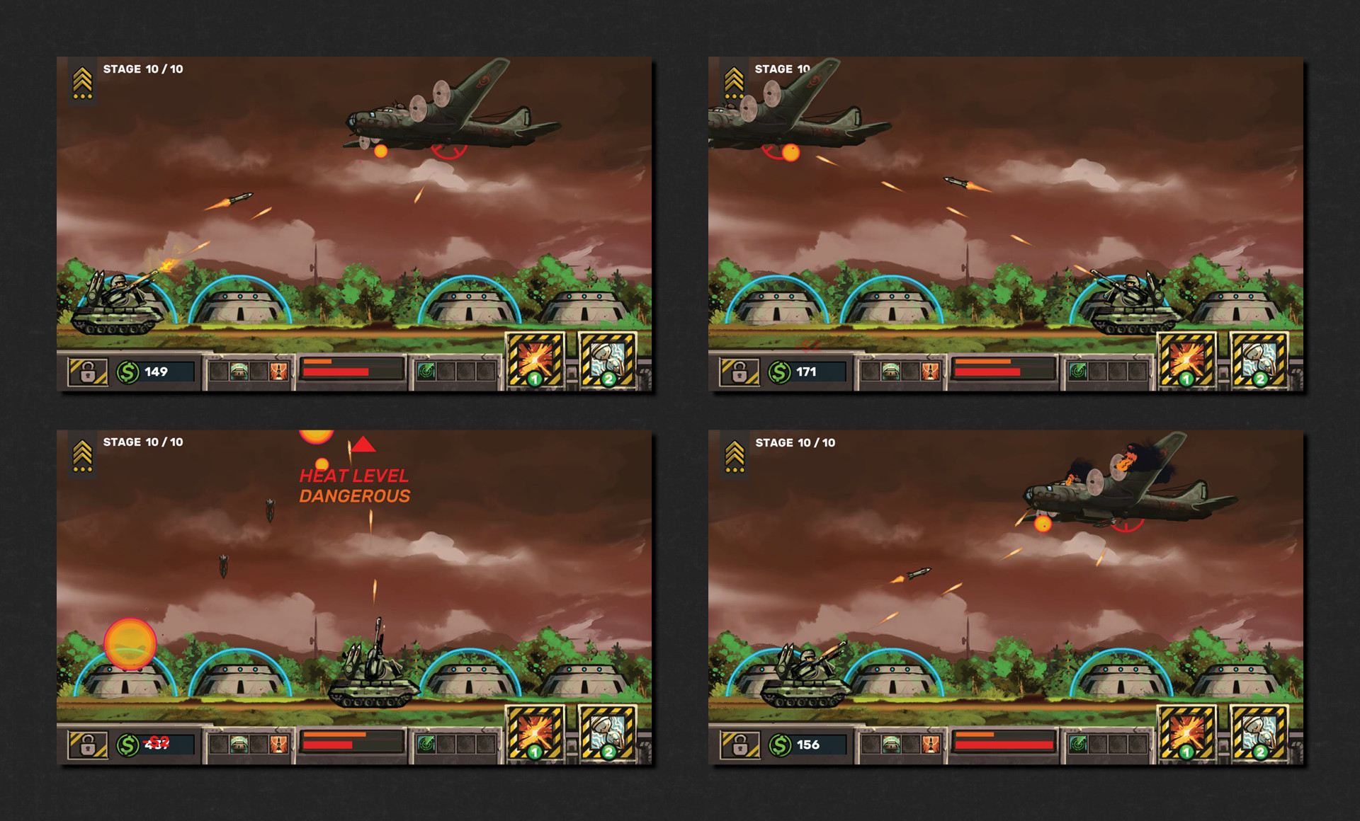At the end of the level, the last stage or wave will include a boss fight that'll bring a refreshing change to difficulty and gameplay style. This boss in question has two constantly alternating phases, along with three major ones.