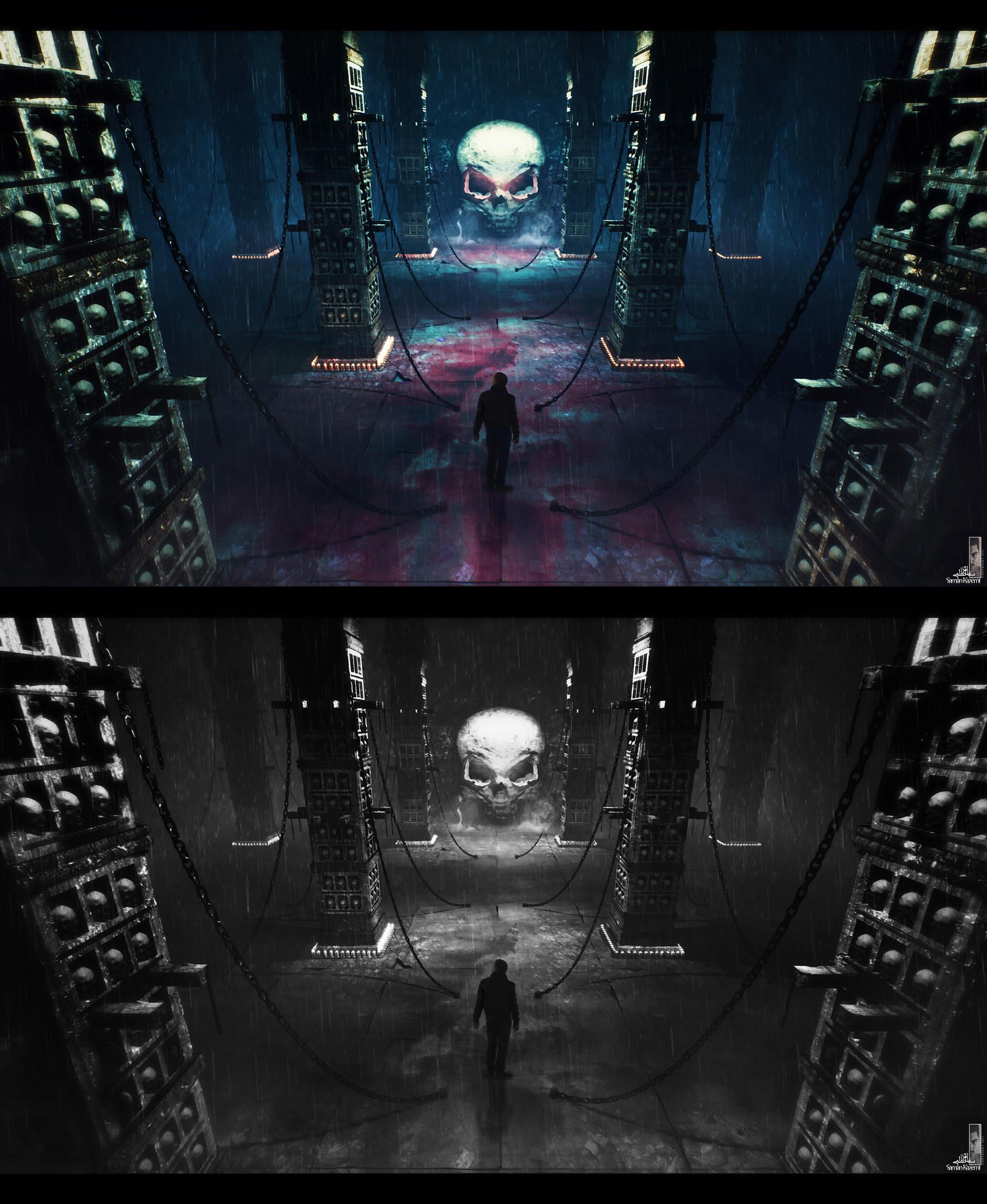 Saman kazemi 14 skull columns
