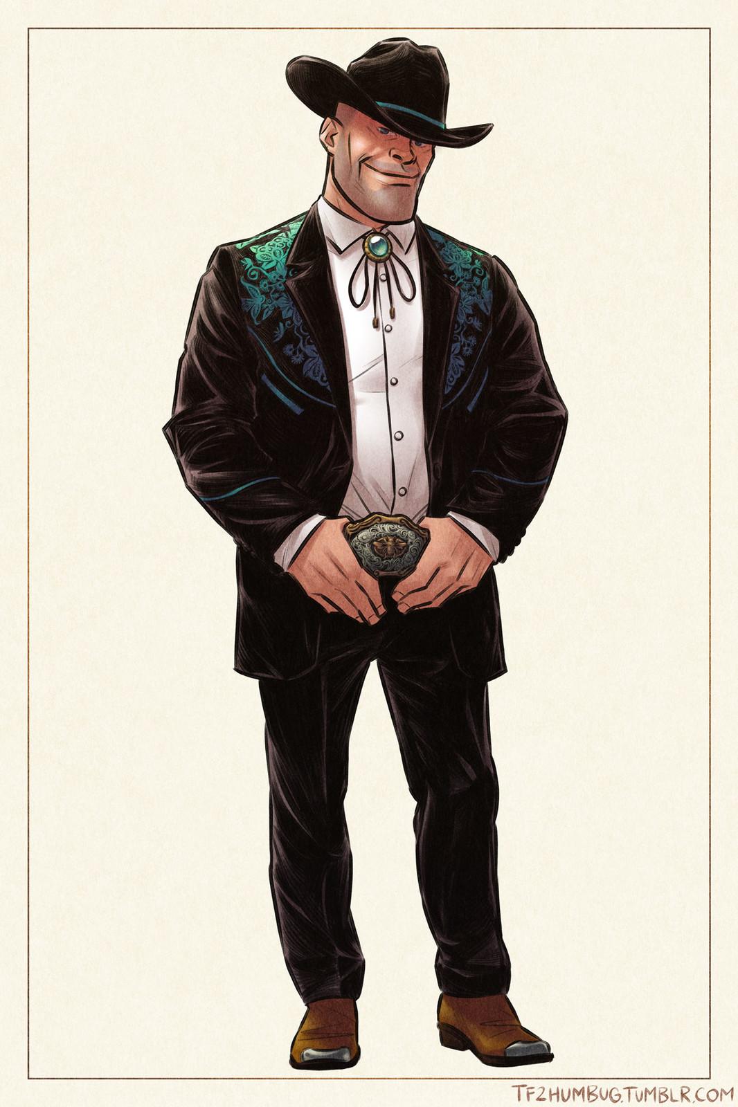 Engineer in a Western tuxedo