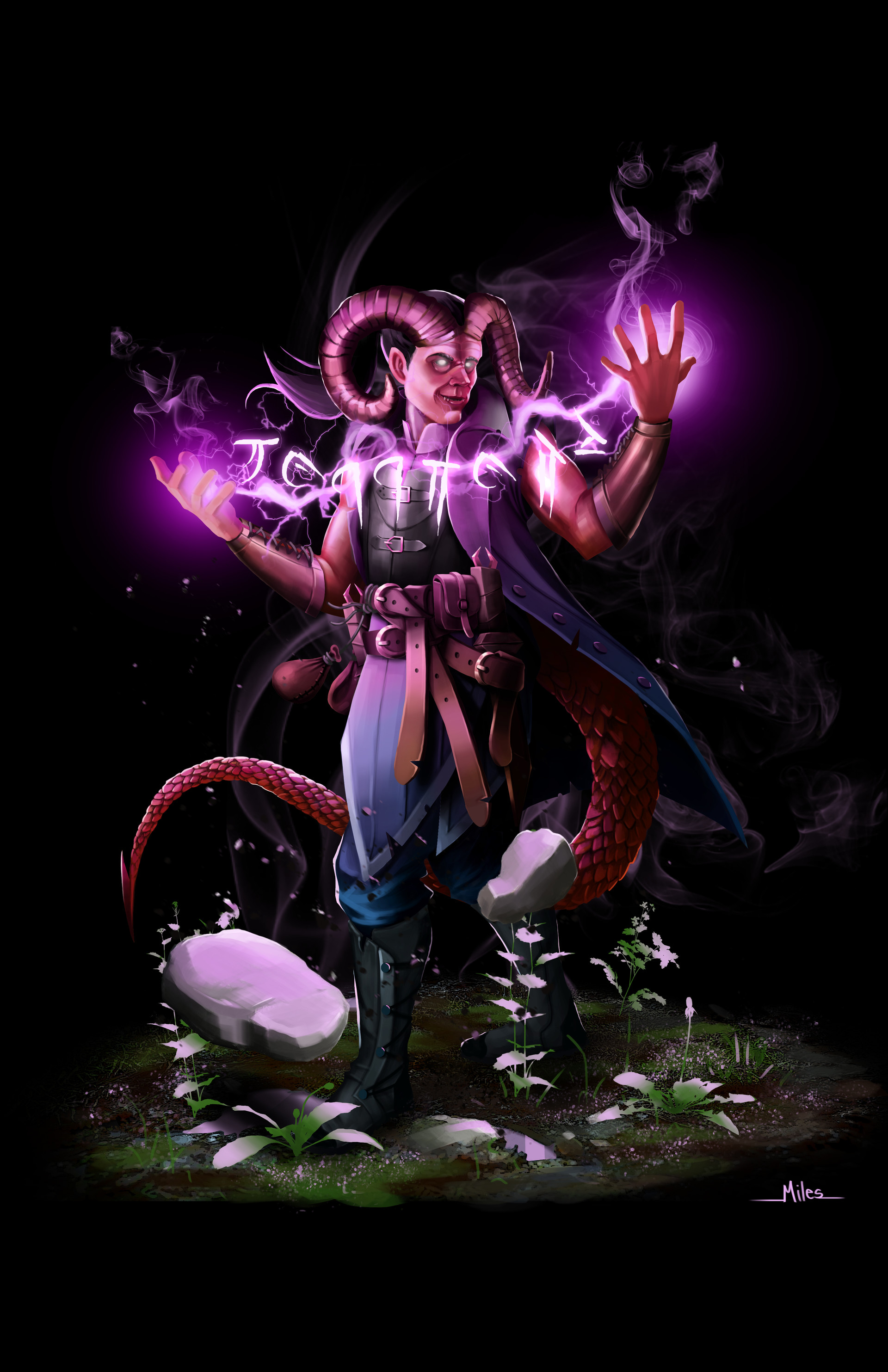 ArtStation - Tiefling Sorcerer, Miles Loth
