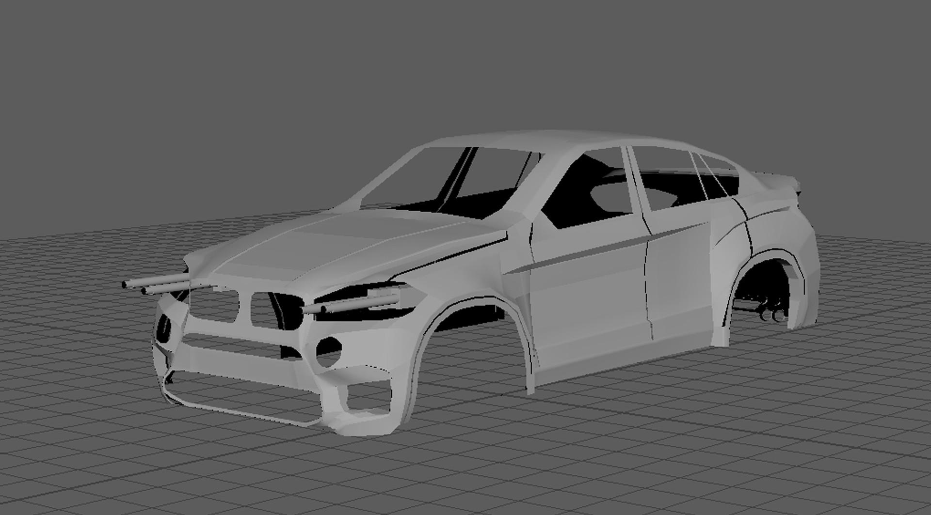 Artstation Bmw X6 M 2015 3d Car Model Anelise Mize