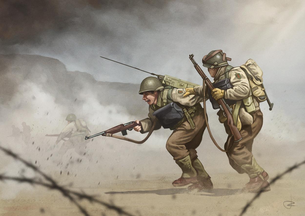 ArtStation - WW2 D-Day - Omaha Beach, Ruben Megido