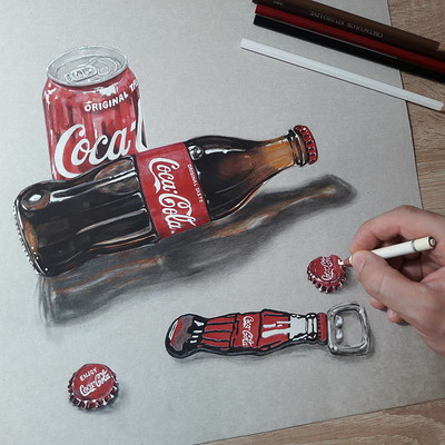Mihai alin ion drawing coca cola mihaialinion thumb