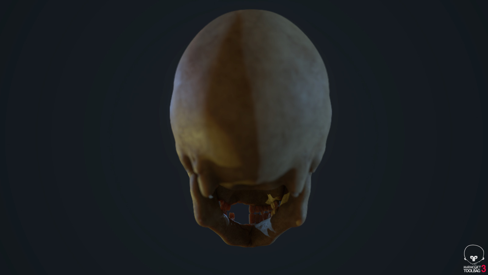 Dramatic Yellow Skull