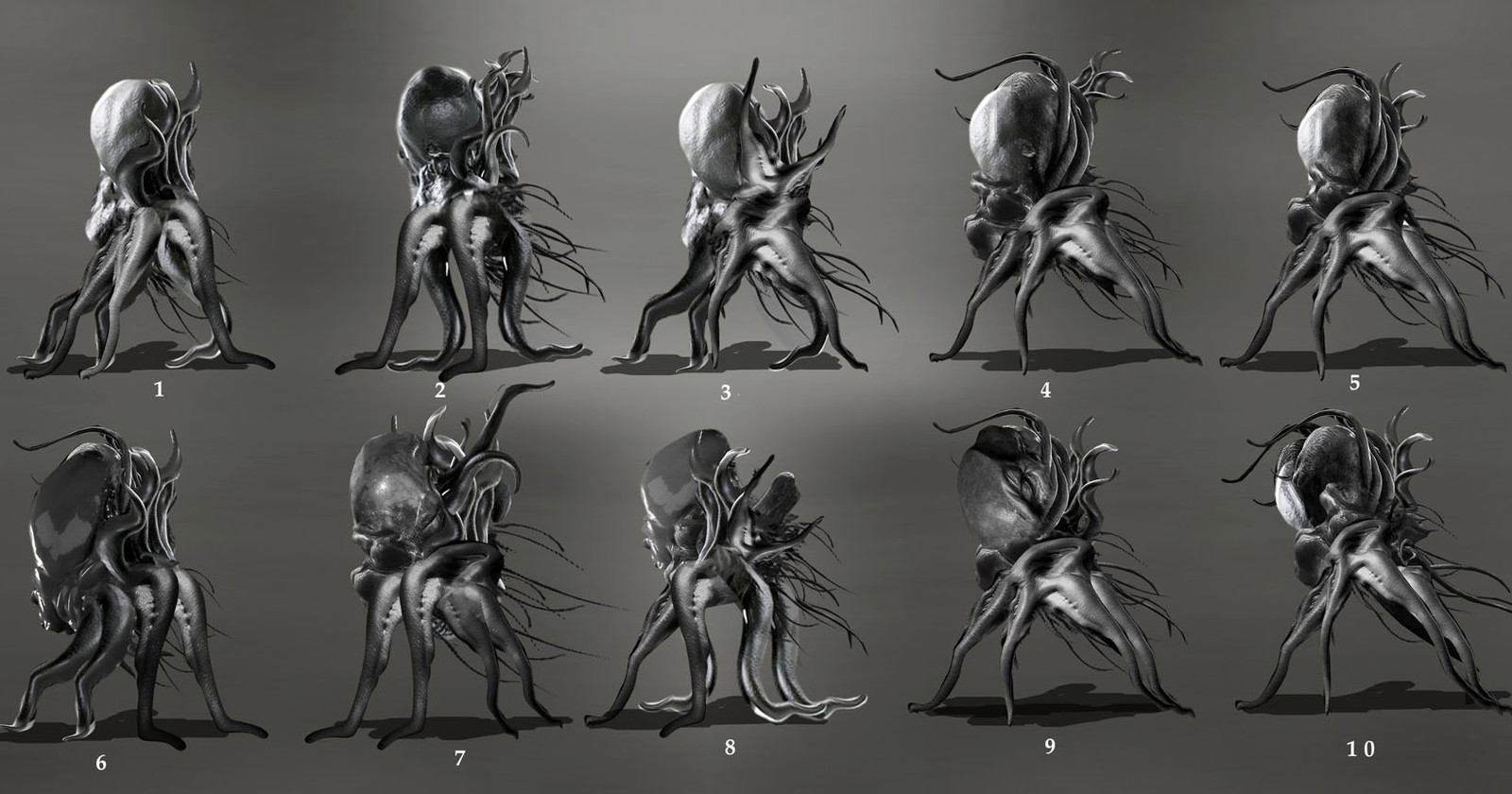 Gelatin based lifeforms  for a unreleased GAME