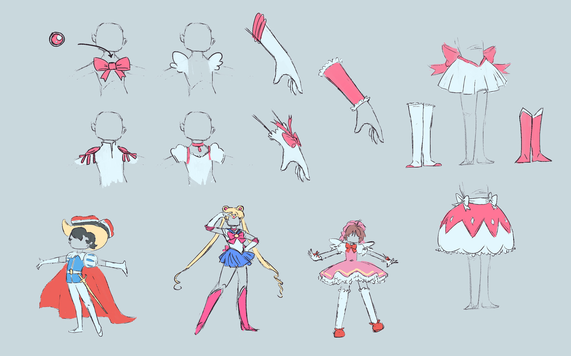 Sam streed magical girl costumes