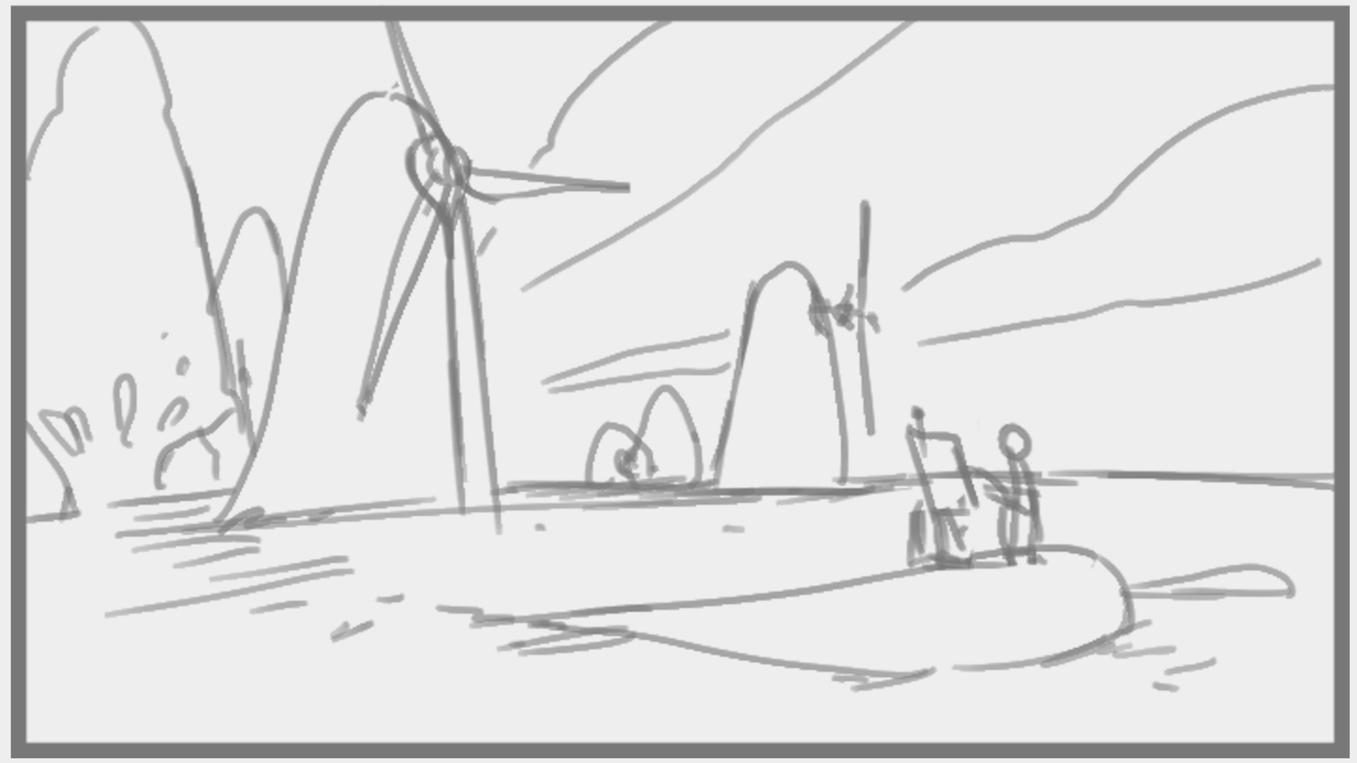 Samuel herb painting windmills sketch
