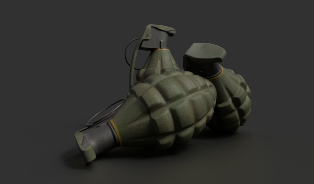 "United States Army WWII Mk2 ""Pineapple"" Grenade"