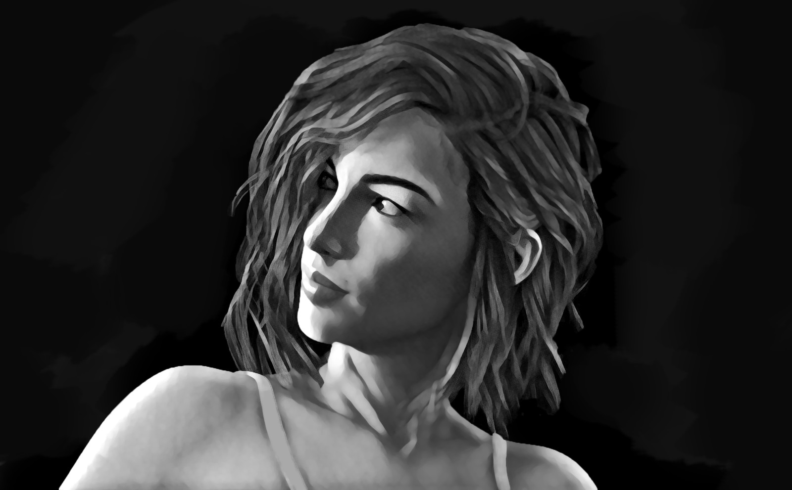 Portrait Study - Black & White