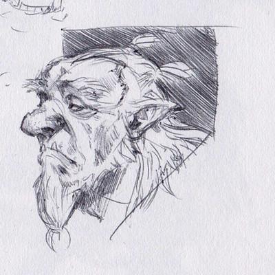 Taran fiddler sketchbook page 1