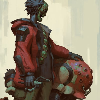 Edward delandre cconfused kid and his animal artstation