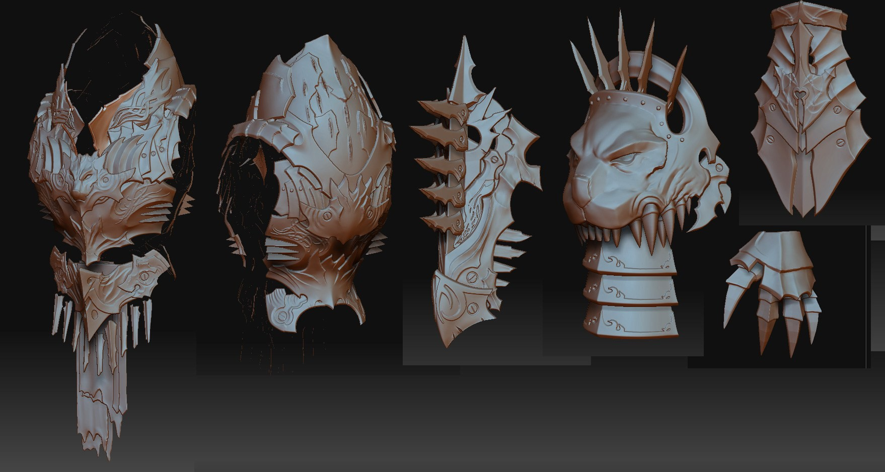 Zbrushing for them normal maps and ambient textures.