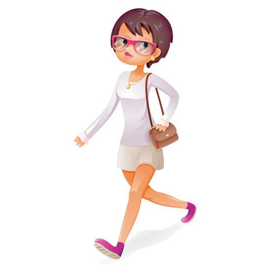 artstation cute girl walk vector character stanislav kuznetsov cute girl walk vector character